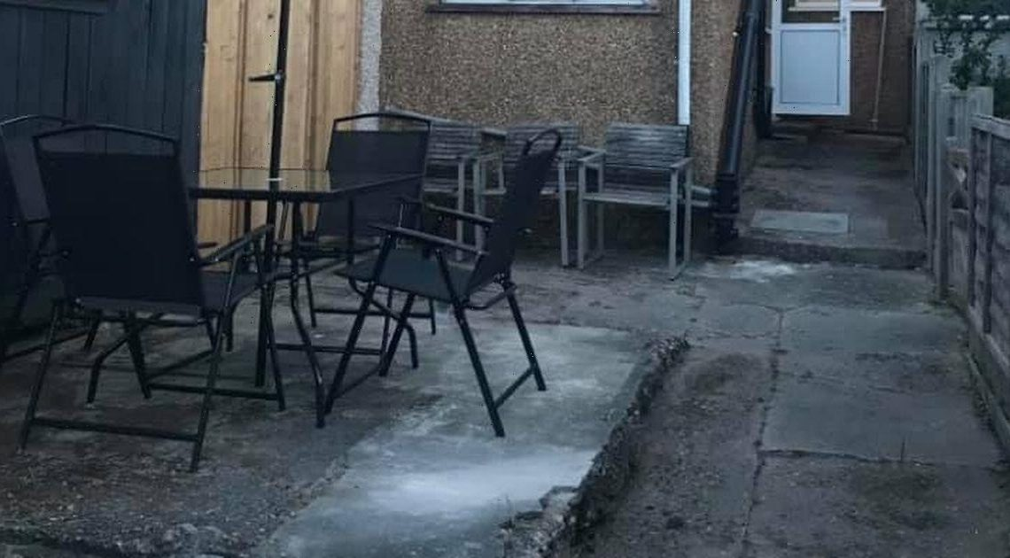 DIY couple save over £1,000 turning stone backyard into epic seating space