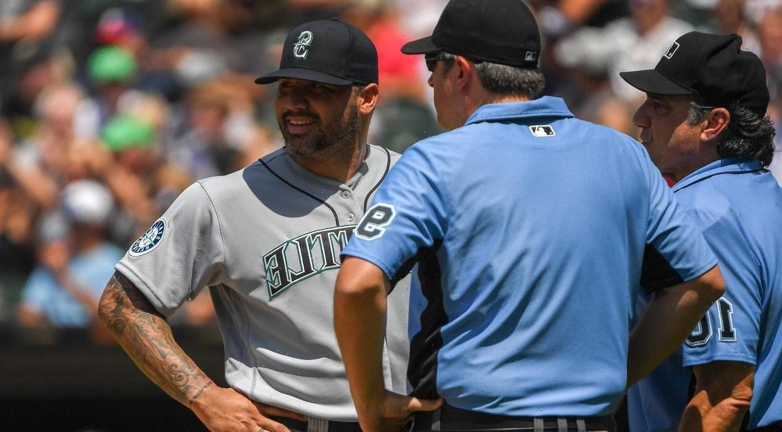 Mariners' Hector Santiago is first pitcher to be ejected under MLB's new foreign substance protocols