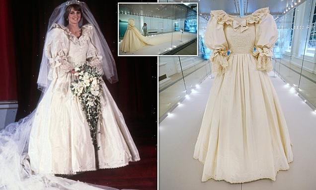 Princess Diana's wedding dress goes on display at Kensington Palace