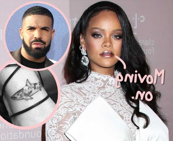 Rihanna Appears To Have Covered Up Her Matching Shark Tattoo With Drake From 5 Years Ago!