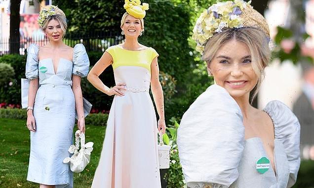 Royal Ascot: Charlotte Hawkins cuts an elegant figure in cream dress
