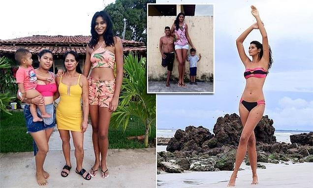 Seven-foot-tall model is named 'Brazil's tallest woman'