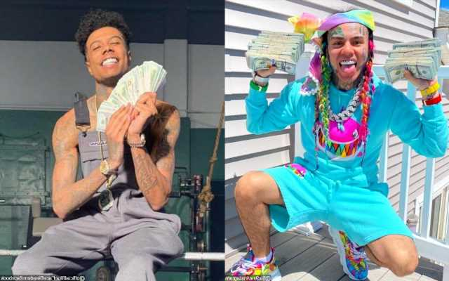 6ix9ine Slapped With Defamation Lawsuit for Calling Tattoo Artist 'Heroin Addict' Amid Blueface Feud