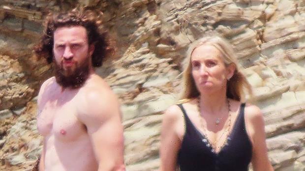 Aaron Taylor-Johnson, 31, & Wife Sam, 54, Enjoy A Beach Day With Gerard Butler & His GF In Malibu — Photo