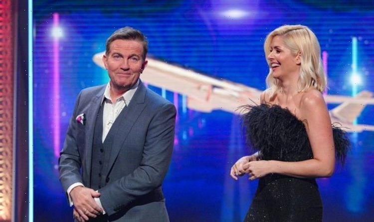 Holly Willoughby dazzles in black feather and glitter dress for brand-new BBC gameshow