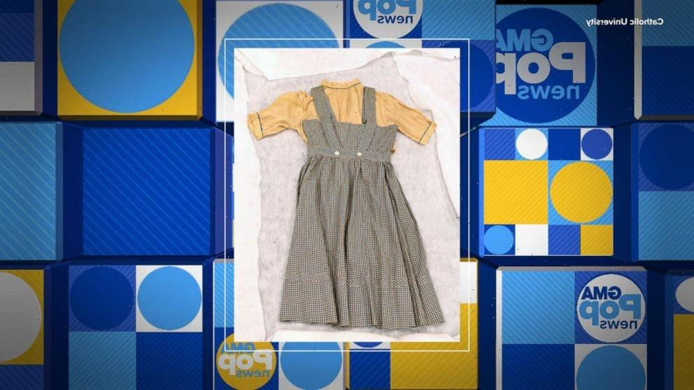 Judy Garland's 'Wizard of Oz' dress found decades later in college drama department