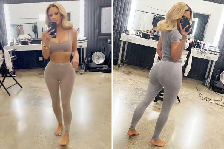 Kim Kardashian shows off tiny waist and platinum blonde hair in throwback Skims photoshoot