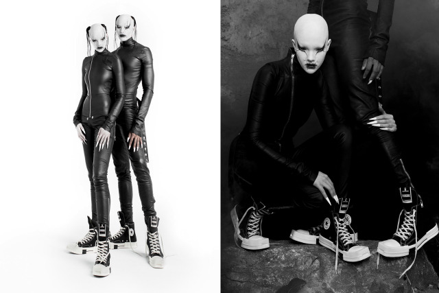 Rick Owens Casts Alien-Looking Couple for His Converse Campaign