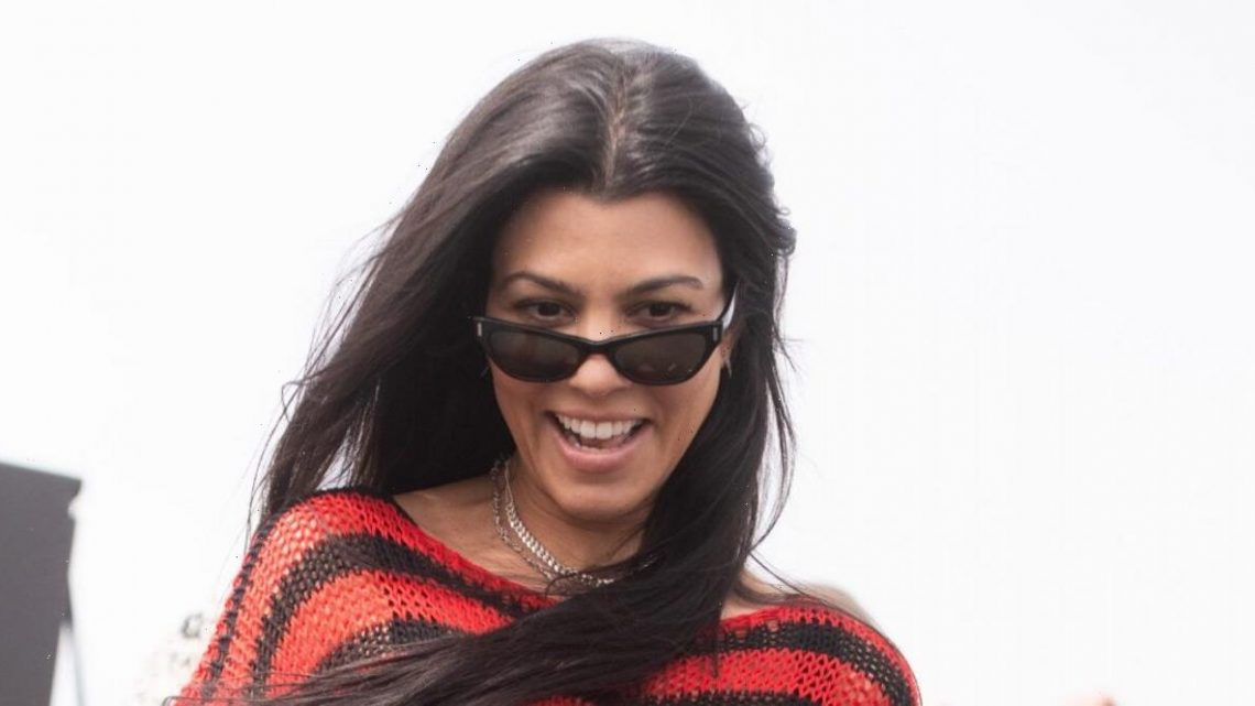 What Is Kourtney Kardashian Saying With These Bridal Minnie Mouse Ears?