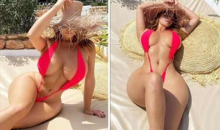 Demi Rose nearly spills out of skimpy string bikini as she shares boob-baring pic in Ibiza
