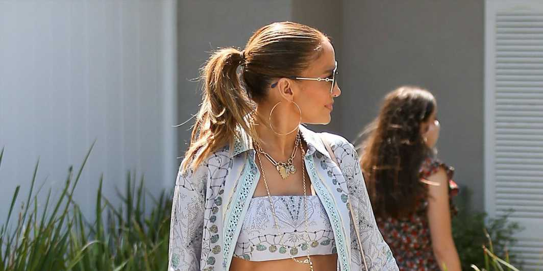 Jennifer Lopez, 52, Just Took Her Washboard Abs For A Walk In A Crop Top And Pants Set In Los Angeles