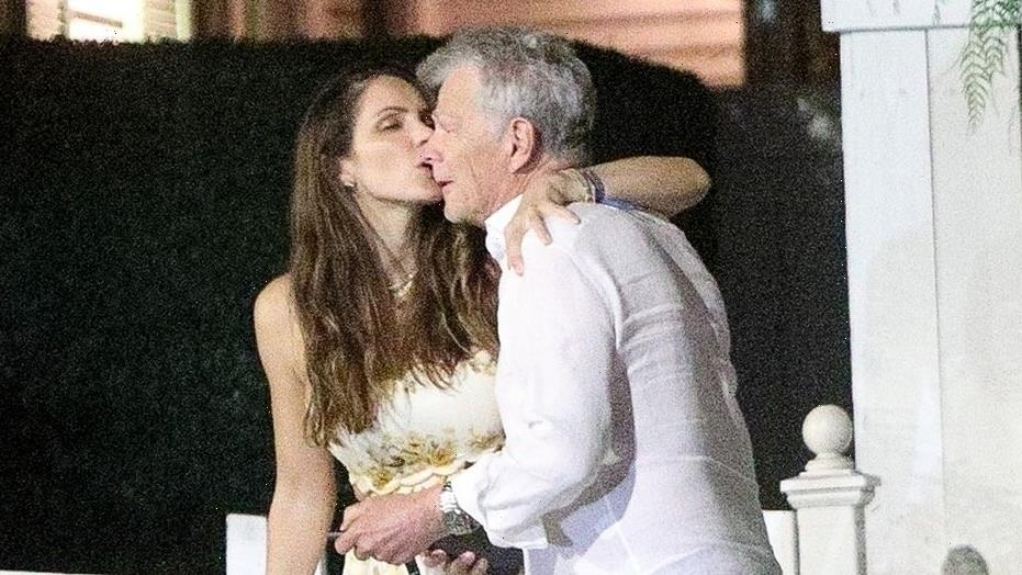 Katharine McPhee, David Foster smooch on dinner date after welcoming son