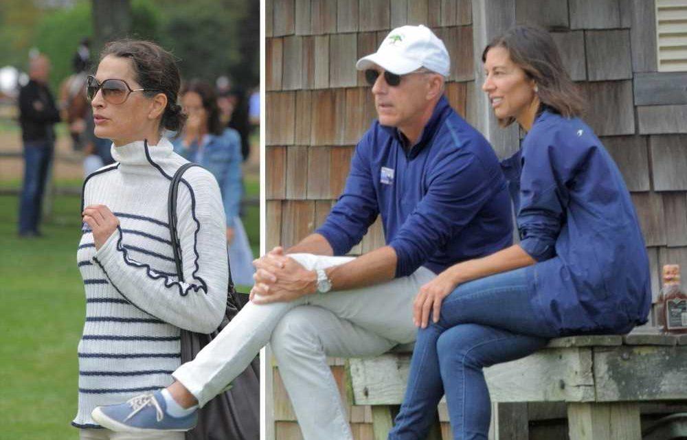 Matt Lauer, girlfriend attend same Hamptons event as ex-wife Annette Roque