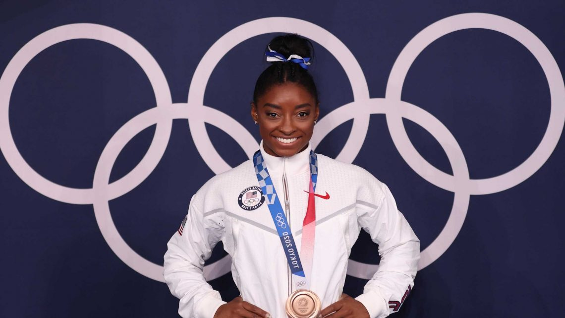 Simone Biles Wins Bronze in Final Gymnastics Competition at the Olympics!