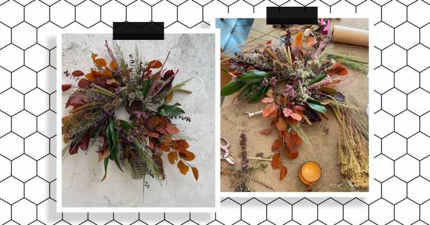 A florist's guide to making a chic, seasonal autumn wreath