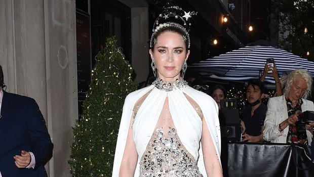 Emily Blunt's Jeweled Miu Miu Dress For The 2021 Met Gala Channels An Iconic Hollywood Actress
