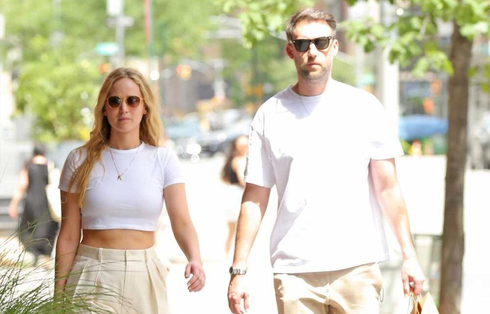 Jennifer Lawrence pregnant with first child with husband Cooke Maroney