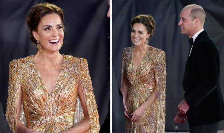 Kate Middleton channelling 'inner Bond Girl' in sheer £3k gold dress at Bond premiere