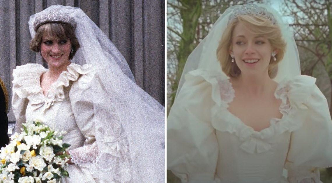 Kristen Stewart Stuns in a Spot-On Replica of Princess Diana's Famous Wedding Dress