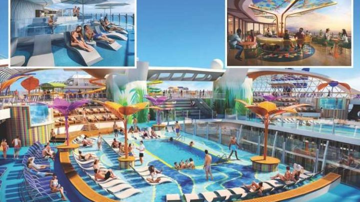 Largest cruise ship in the world with zip lines & pool bars launches next year – and it's coming to Europe