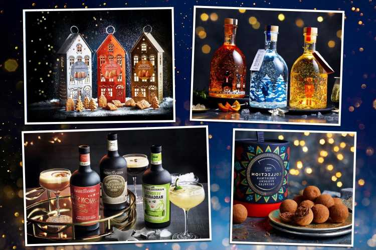 Marks and Spencer's Christmas food range 2021 includes three light-up gin bottles and Xmas pudding truffles