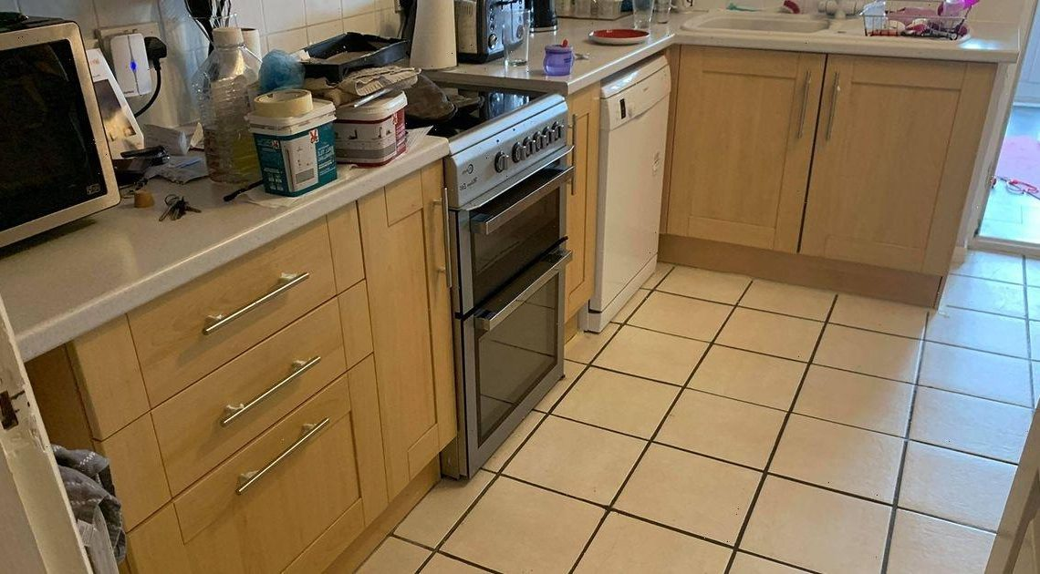Mum-of-two transforms outdated kitchen for just £57 using £2 bargains from B&M