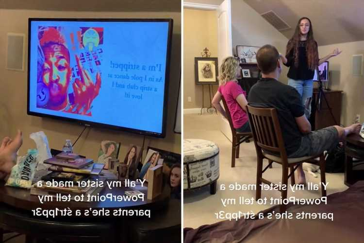 Woman creates a PowerPoint presentation to tell her parents she's a stripper – and their reaction is priceless