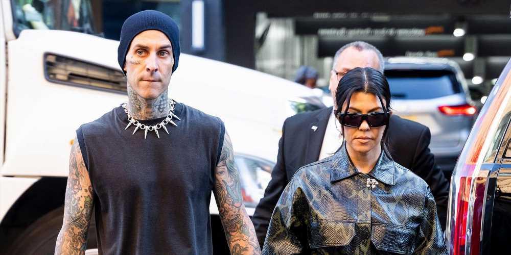 Kourtney Kardashian Wore a Snake-Print Coat and Travis Barker Didn't Get the Outerwear Memo