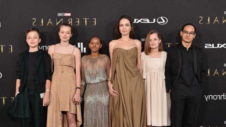 Zahara Jolie-Pitt Stuns in Angelina Jolie's 2014 Oscars Dress at 'Eternals' Premiere